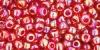 Бисер японский TOHO 8/0 прозрачный радужный рубин-165С