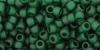 Бисер японский TOHO 8/0, прозрачный, матовый зелёный изумруд-939F